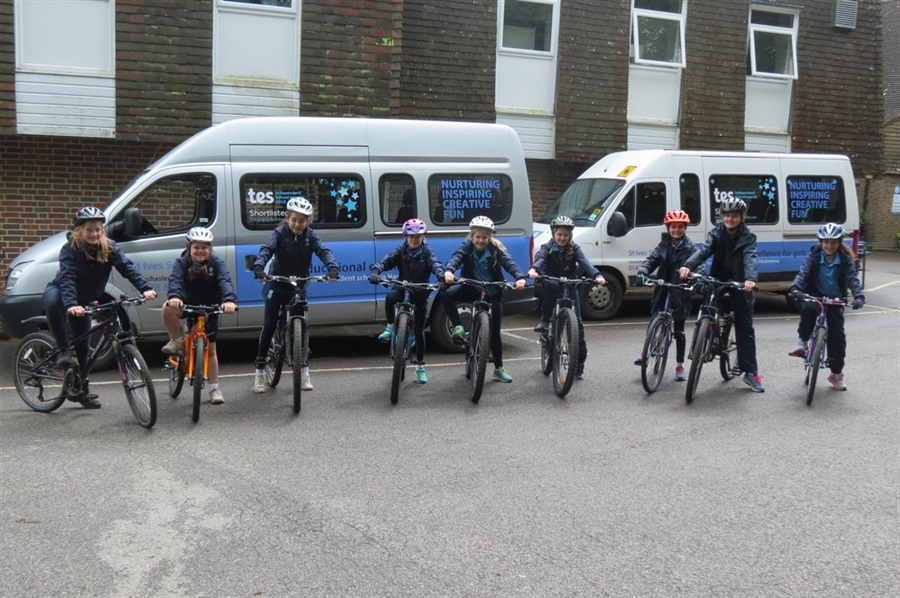 Bikeability came in for the week to teach Year 6 children about road safety