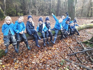 Year 3 having fun during Forest School