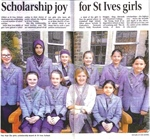 Scholarship joy for St Ives girls