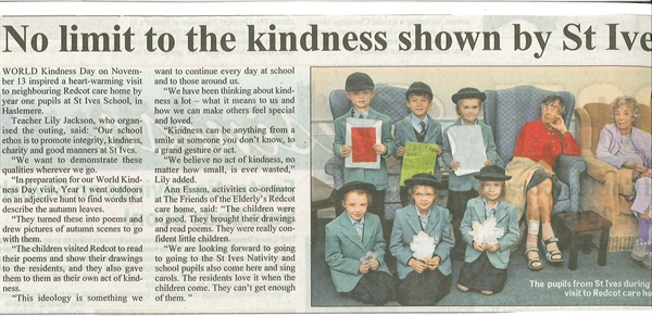 No Limit to Kindness Shown by St Ives