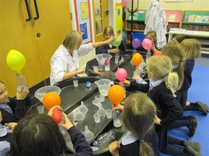 Nursery and Pre-Prep Children enjoy a special Science class with Mini Professors